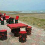 ساحل و الاچیق های مجتمع مهر کادوس